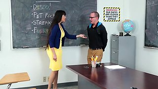 Busty MILF Teacher Fucks Student