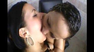 Lesbian deep kissing compilation