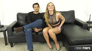 Sexy titty fuck and pussy draining with Britney Amber and Jay Smooth