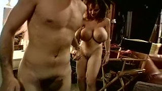 Horny pizza boy is happy to lick pussy of a busty customer