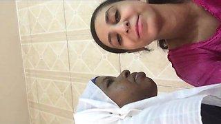 arab shy kissing