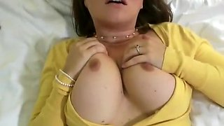 Chick In Glasses With Big Breasts Creampie