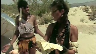 Postapocalyptic classic porn video with a bunch of lesbians