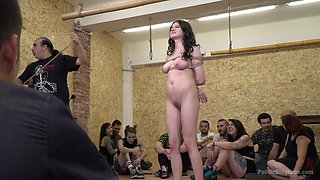 Young Whore Francesca Dicaprio Shamed, Tied-Up, And Fucked In Public - PublicDisgrace
