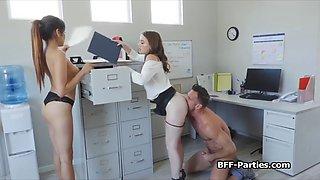 Lucky ceo bangs three secretaries