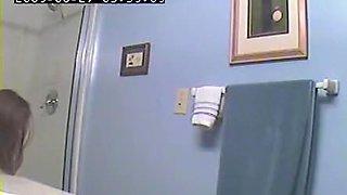 wife in bathroom
