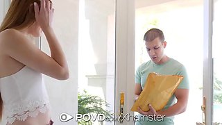 POVD Fired teacher Nina Skye fucks for extra money POV style