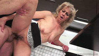 Dirty old whore Liona G gets her pussy fucked and licked
