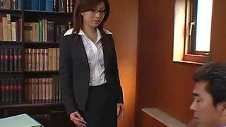 Hottest Japanese girl in Incredible Secretary JAV scene