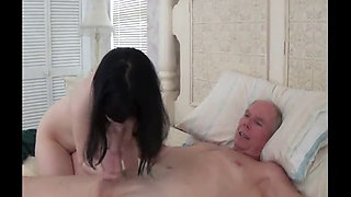 Ninfomana daughter ties and fucks her dad until she is satisfied