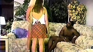 Brunette white bride with black lover Interracial Vintage