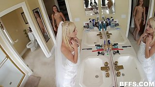 a few hours before the wedding