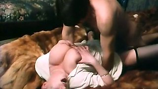 Mesmerizing busty brunette babe fucked in missionary position