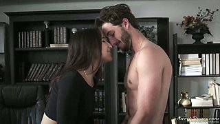 Jaw dropping seductress Abella Danger rides a dick reverse and face to face