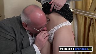 Naughty teacher is seduced into drilling horny student