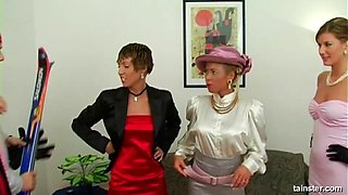 Celine and her friend Bibi are going crazy over the fully-erected cock