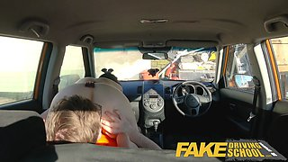 Fake Driving School Hard sex and creampie on 2nd lesson for Alessa Savage