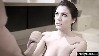 Intimidated euro maid has no choice then to fuck her boss
