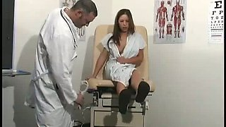 This dirty minded doctor wants his patient Haley Paige to masturbate for him