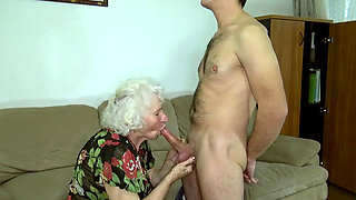 Granny Norma sucking and fucking
