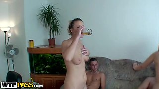 A Lot Of Alcohol And Horny Drunk Babes Make For A Great Party