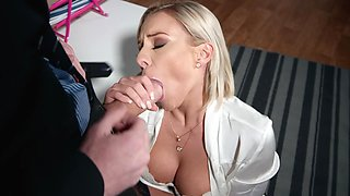Milf removes undies for the biggest dick in her life