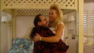 Vintage porn with a big titted blonde Alexa Knight taking it in her pussy