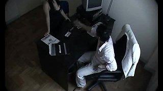 Sneaky Secretary Fucks her Boss in his Office