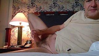 German Dad cum in hotel room