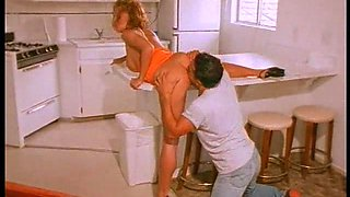 Hot action in a kitchen brings them bith memorable orgasms