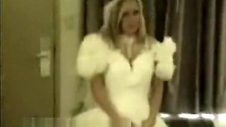 Blonde Bride Gets Busy On Honey Moon