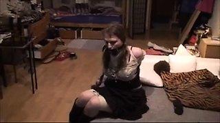 my slave struggling in ropes