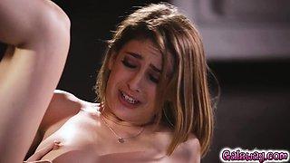 Kristen rubs Kimmy's clit till she squirts