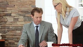 Secretary Vanessa Cage getting plowed by boss