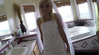 Bride And Bridesmaid Teens Fucked By A Nasty Bridegroom
