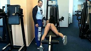 Tanja gets fucked at the gym