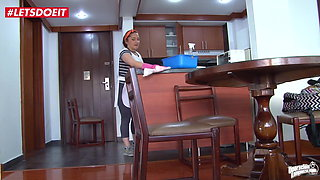 Latina Maid Gets Fucked In The Kitchen
