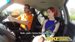 fake driving school instructor creampies frustrated redhead