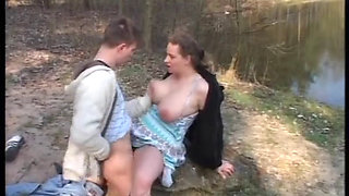 Voayercams com Busty German slut fucked outdoor