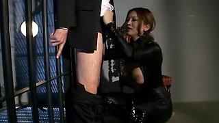 Hottest Japanese model Yuki Toma in Horny BDSM, Threesome JAV clip