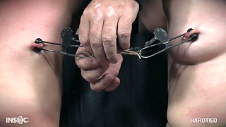 MILF Mia Torro tied up with her friend and they both get abused