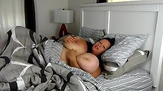 BBW mom in bed