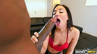 amara romani gets her mouth fucked by black monster cock