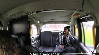 Female Fake Taxi Big black cock fucks horny driver
