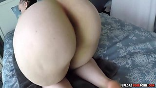 Big ass honey gets pussy toyed and cummed with fake cum