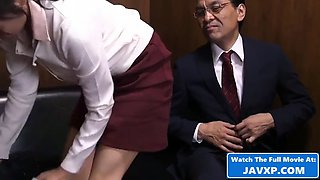 Asian boss fucks his young assistant