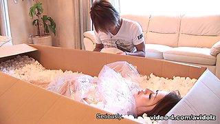 Iori Mizuk in Perfect maid Iori Mizuki gets delivered in mail to please her master - AviDolz