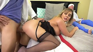 Whore wife blair williams fucks doc in front of injured cuckold