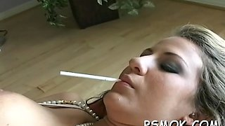 irresistible bitch smokes smoking sex 1