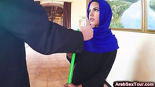 Cute Arab Vixen Teases Sensitive Clit While Horny Guy Drills Her Pussy